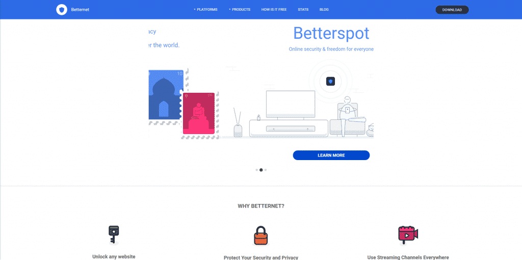 betternet front page