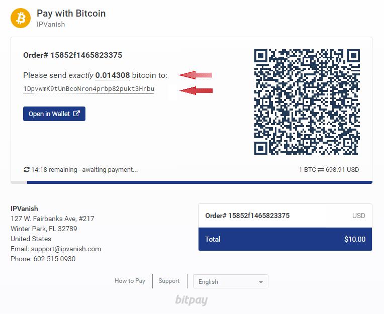bitcoin-payment-ipvanish