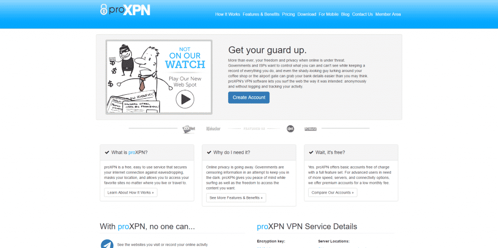 proxpn front page