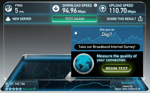 speed test without vpn connection #1